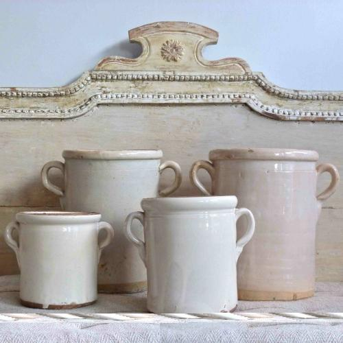 SET OF FOUR ANTIQUE ITALIAN CONFIT POTS