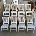 SET OF 8 ANTIQUE SWEDISH GUSTAVIAN STYLE DINING CHAIRS - picture 1