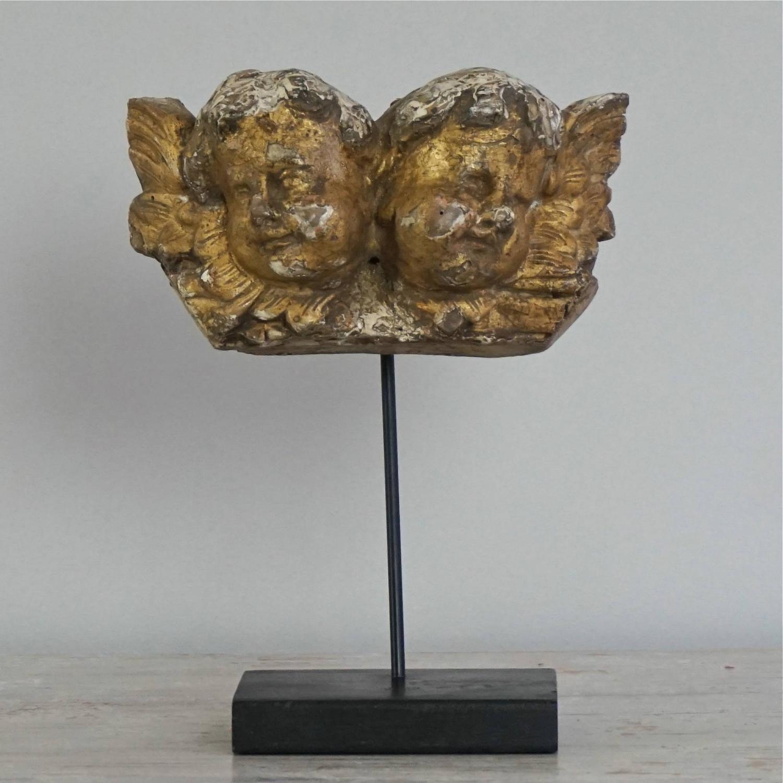 MAGICAL ITALIAN BAROQUE ANGELS IN ORIGINAL GILT