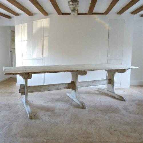 MAGNIFICENT SWEDISH GUSTAVIAN TRESTLE TABLE