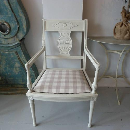 PAIR OF PAINTED FRENCH EMPIRE CHAIRS