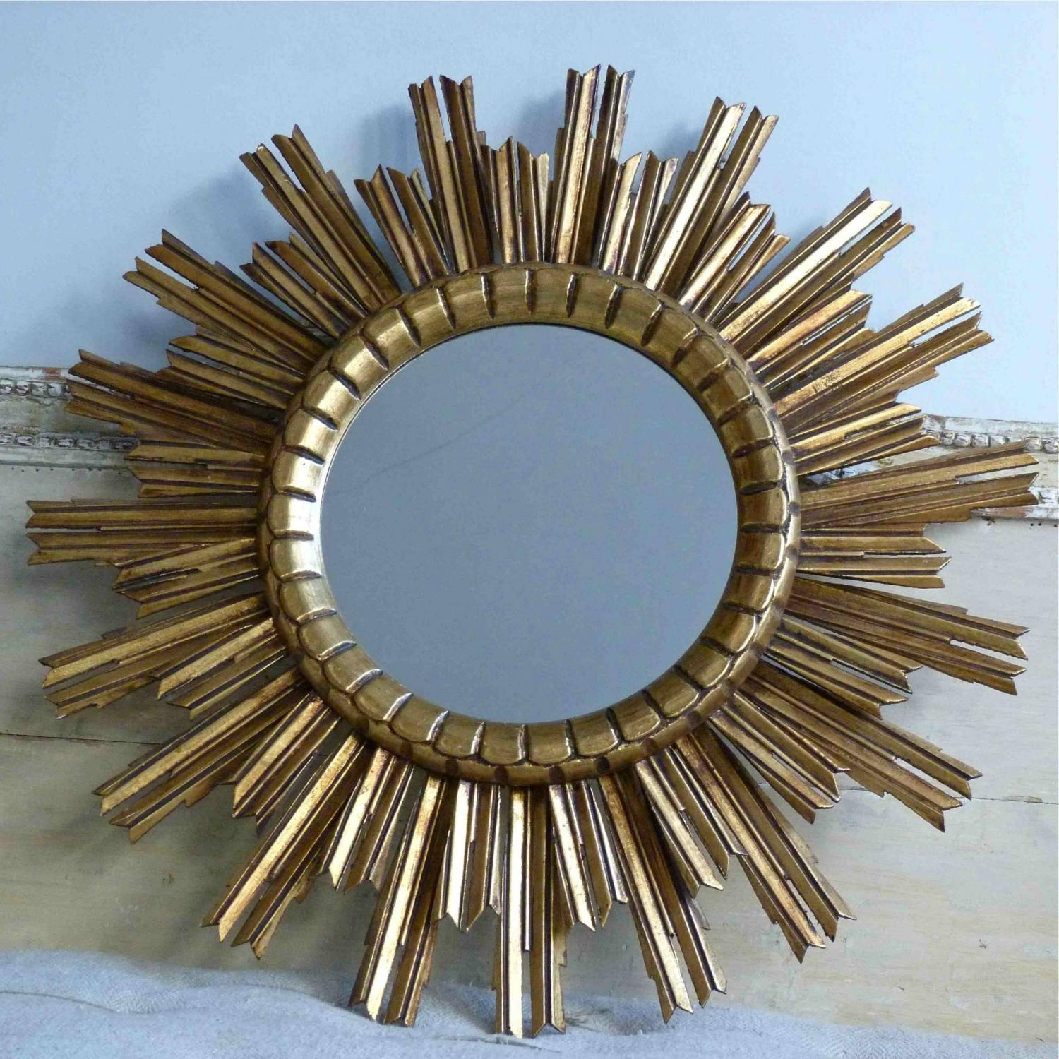 BEAUTIFUL DOUBLE ROW SUNBURST MIRROR