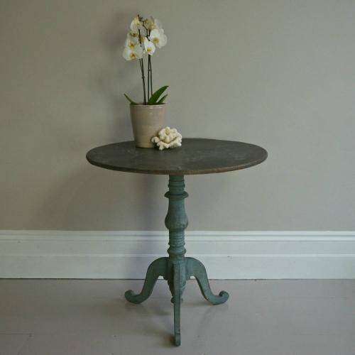 SWEDISH GUSTAVIAN PERIOD TILT-TOP LAMP TABLE