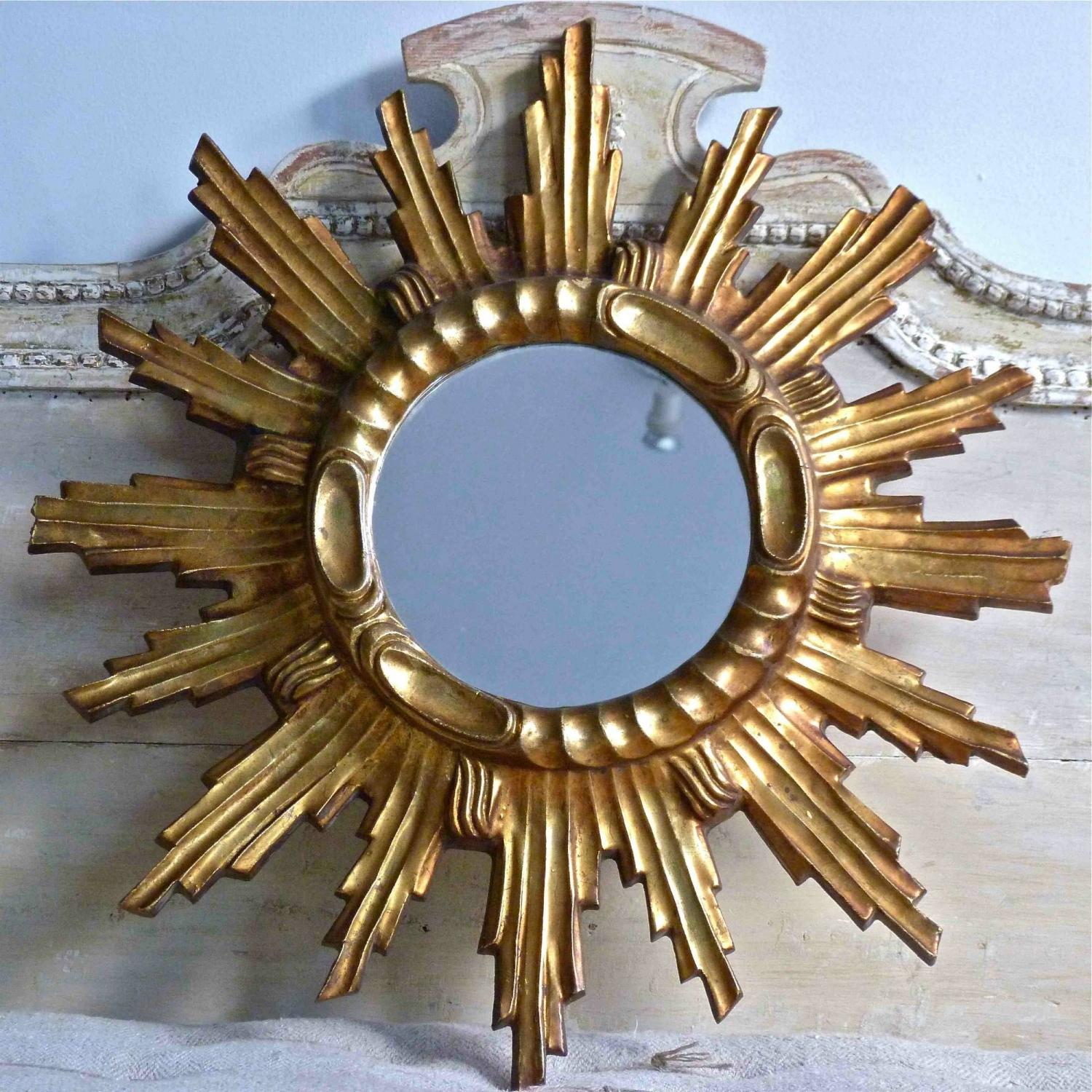 CIRCA 1970 GILT SUNBURST MIRROR