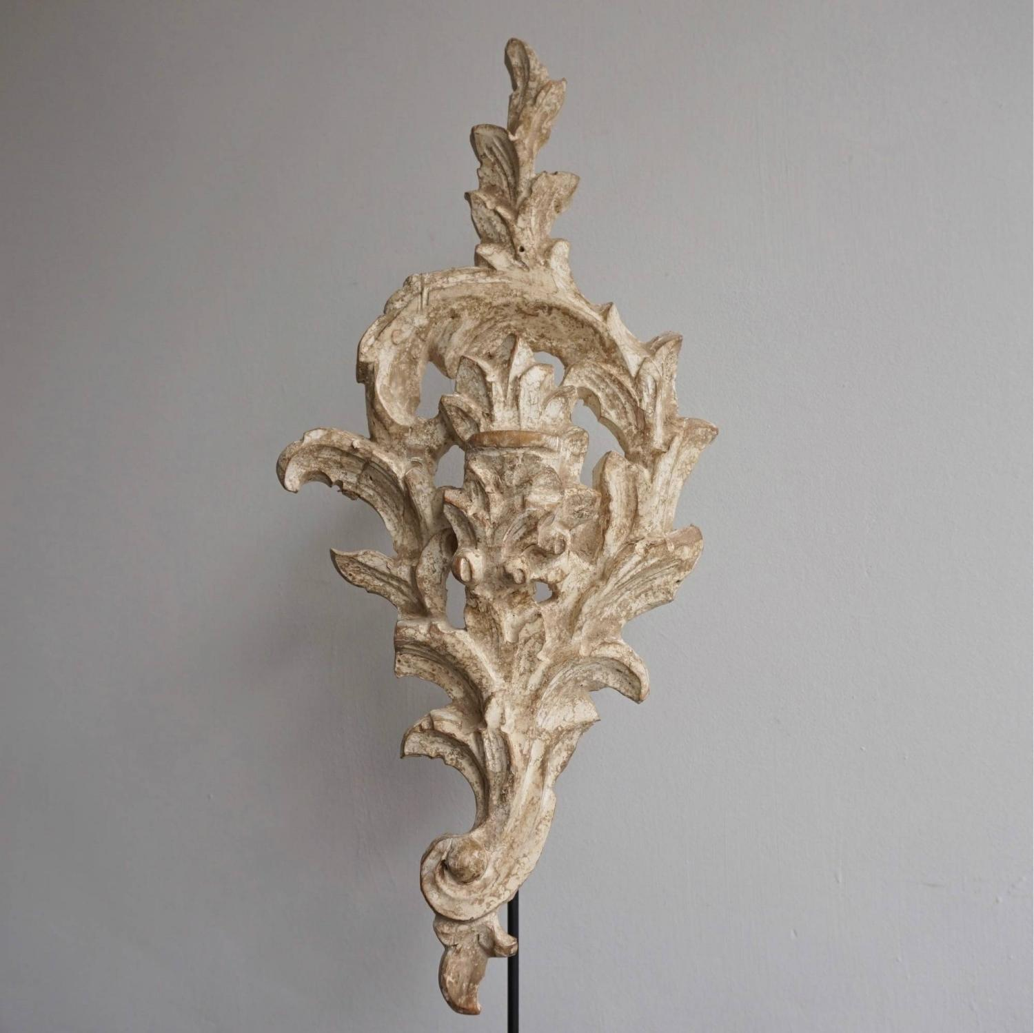BEAUTIFUL 18TH CENTURY HAND CARVED BAROQUE ORNAMENT