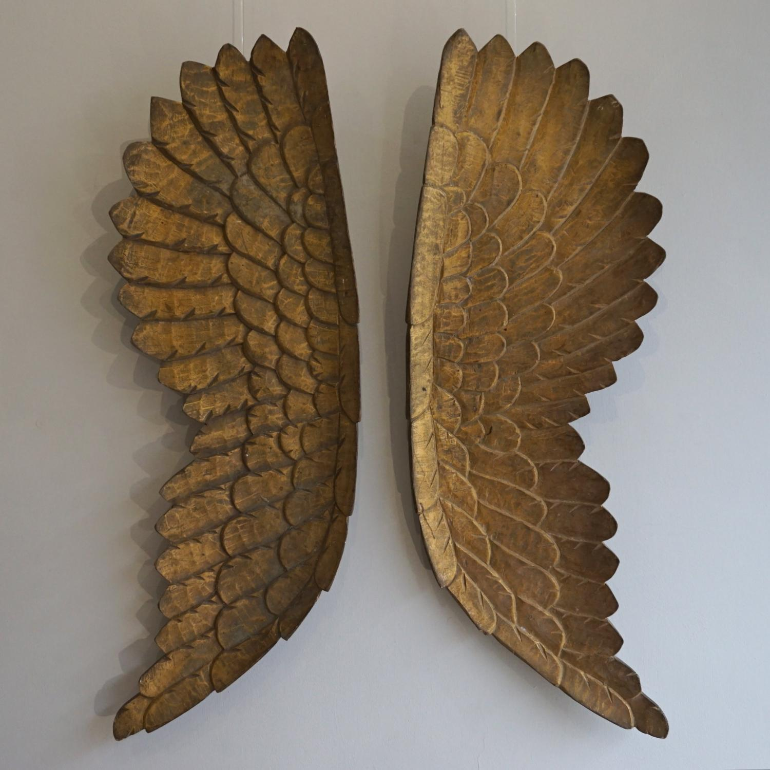 OUTSTANDING PAIR OF 19TH CENTURY ANGELS WINGS