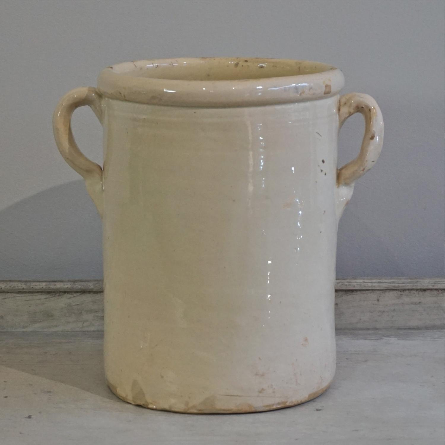 LARGE ANTIQUE ITALIAN CONFIT POT