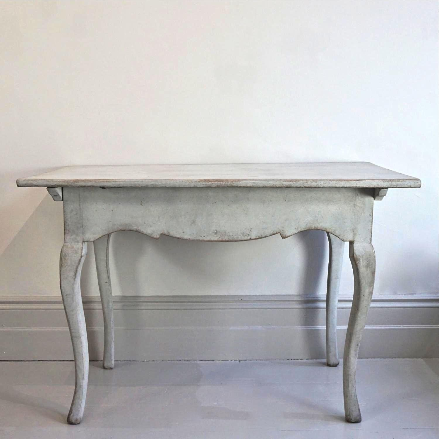 WONDERFUL 18TH CENTURY SWEDISH ROCOCO TABLE in FURNITURE