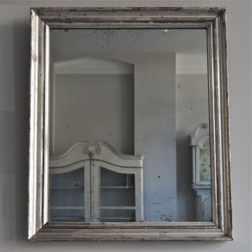 MID 19TH CENTURY SILVER MERCURY GLASS MIRROR