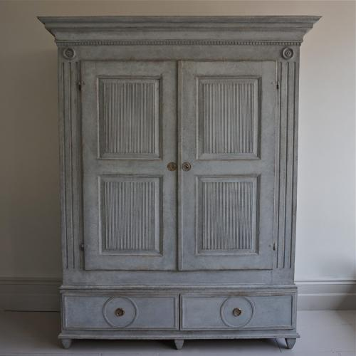MAGNIFICENT GRAND SCALE GUSTAVIAN CABINET