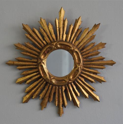 CHARMING 20TH CENTURY VINTAGE SUNBURST MIRROR