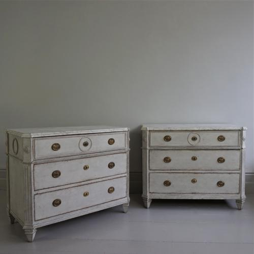 OUSTANDING PAIR OF SWEDISH GUSTAVIAN CHESTS