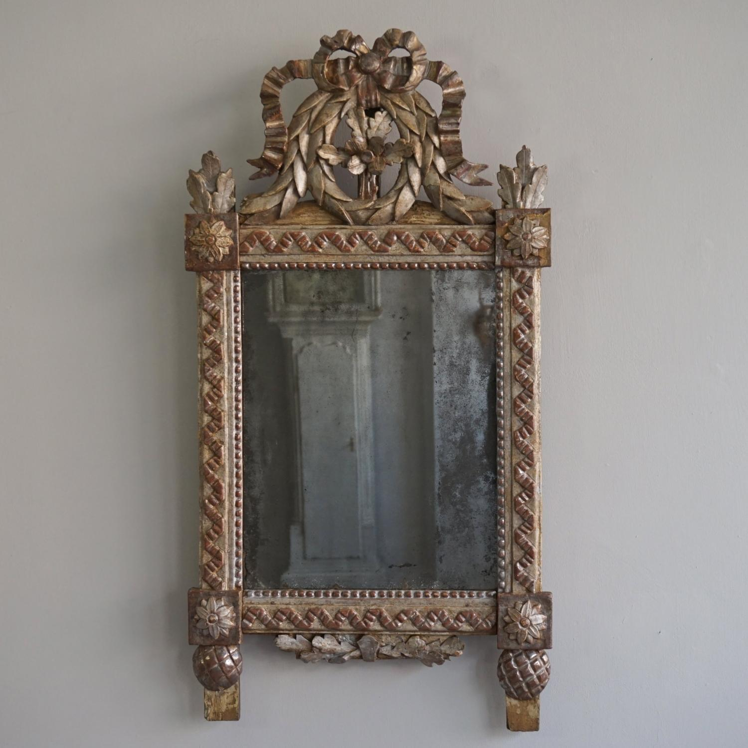 EQUISITE 18TH CENTURY FRENCH LOUIS XVI MIRROR