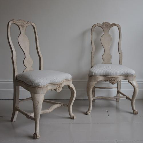 EXCEPTIONAL PAIR OF ROCOCO PERIOD CHAIRS