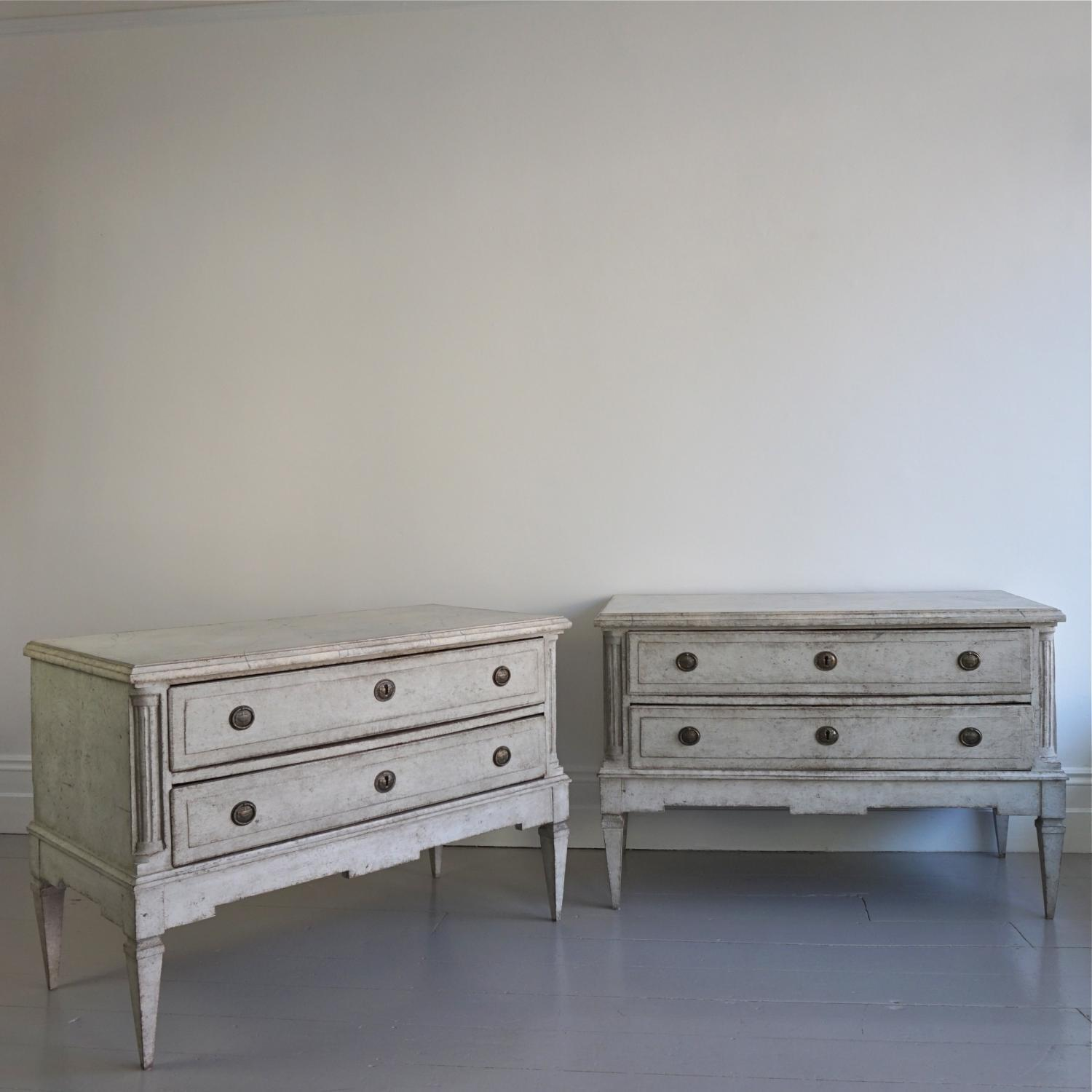 PAIR OF RARE GUSTAVIAN PERIOD CHESTS