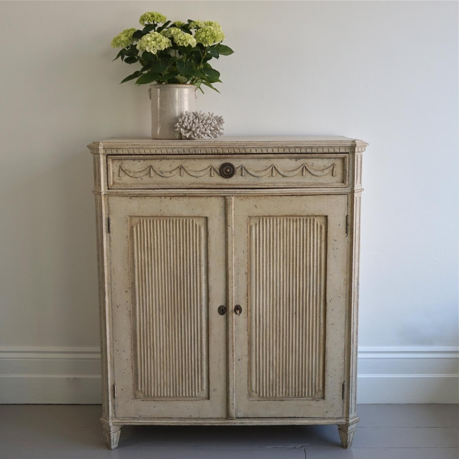DECORATIVELY CARVED GUSTAVIAN STYLE BUFFET