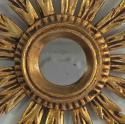 SMALL FRENCH VINTAGE GILT SUNBURST MIRROR - picture 4