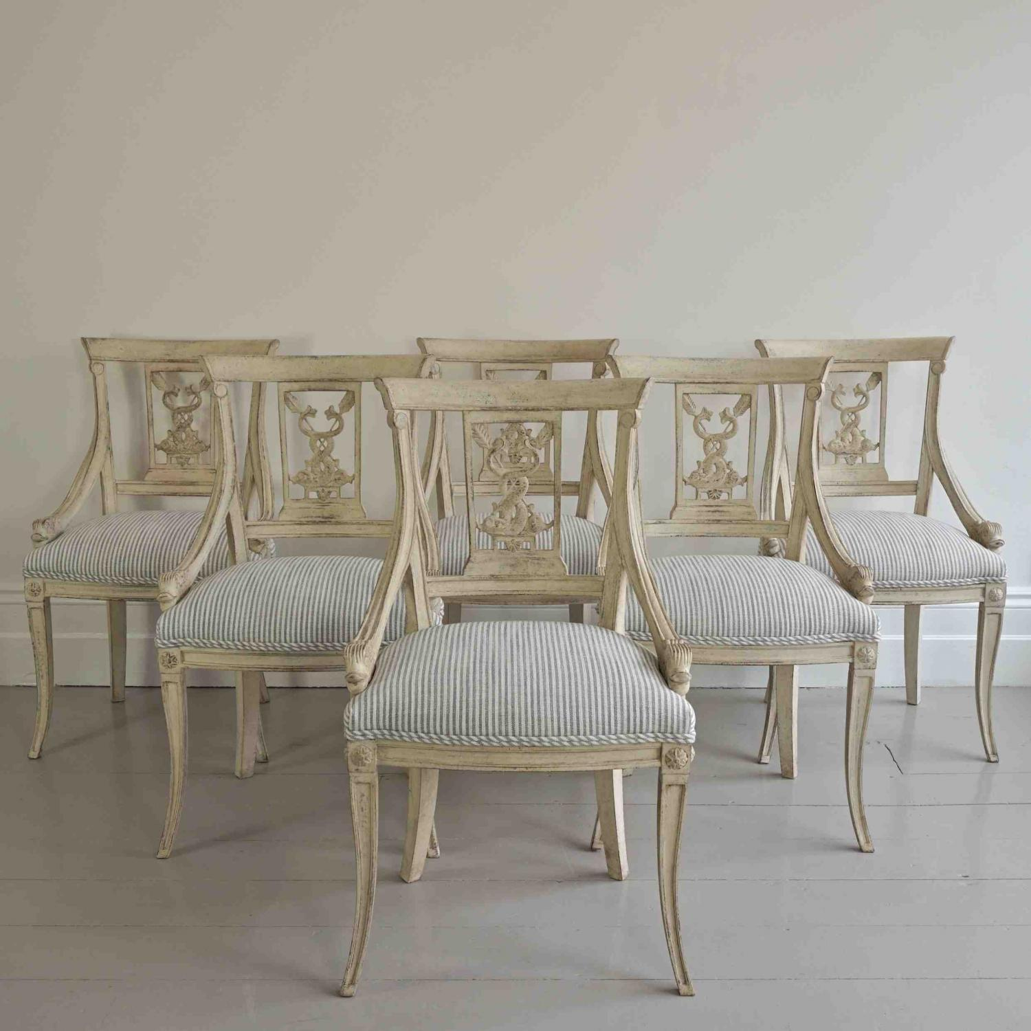 OUTSTANDING SET OF SWEDISH EMPIRE ARMCHAIRS
