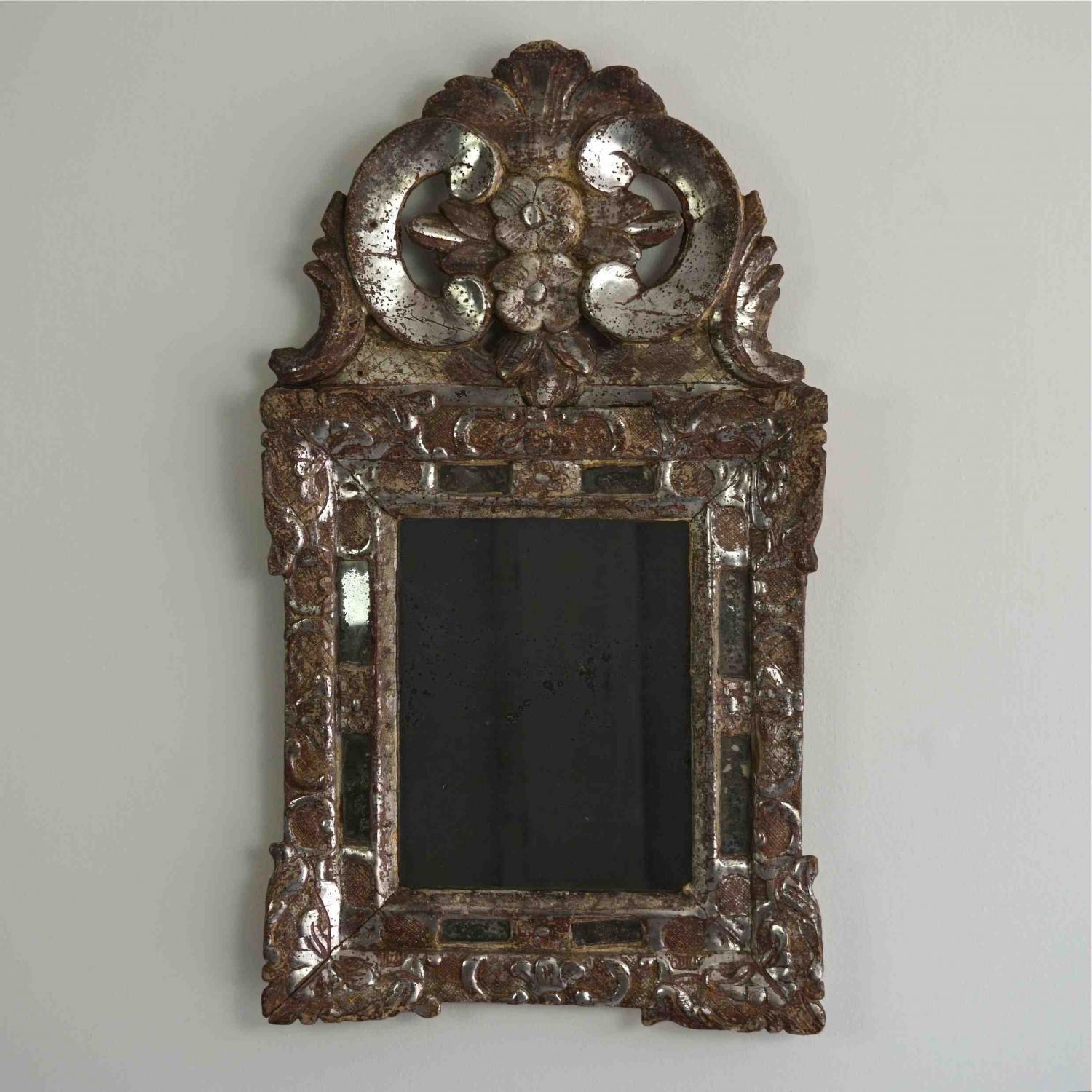 EXTRAORDINARY SILVER LOUIS XIV MIRROR