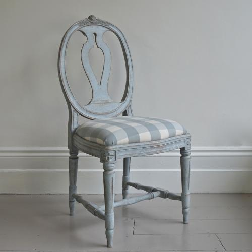 SWEDISH GUSTAVIAN 'SVENSKA' MODEL CHAIR