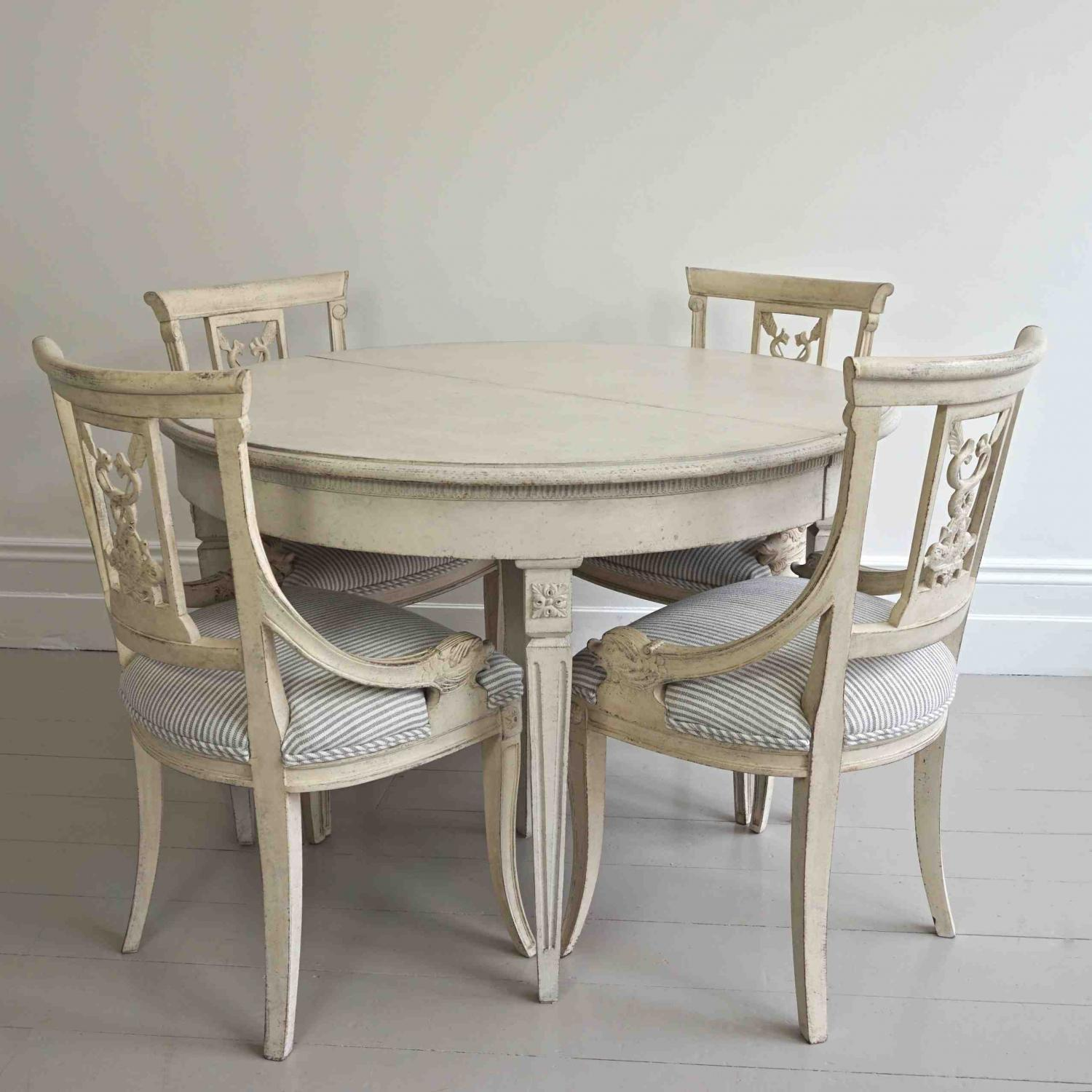 Swedish gustavian style dining table in furniture for Dining table styles