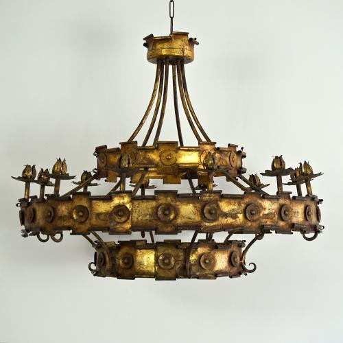 EXCEPTIONAL SPANISH GILDED METAL CORONA
