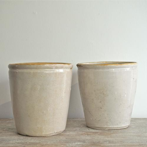 PAIR OF ITALIAN CONFIT POTS