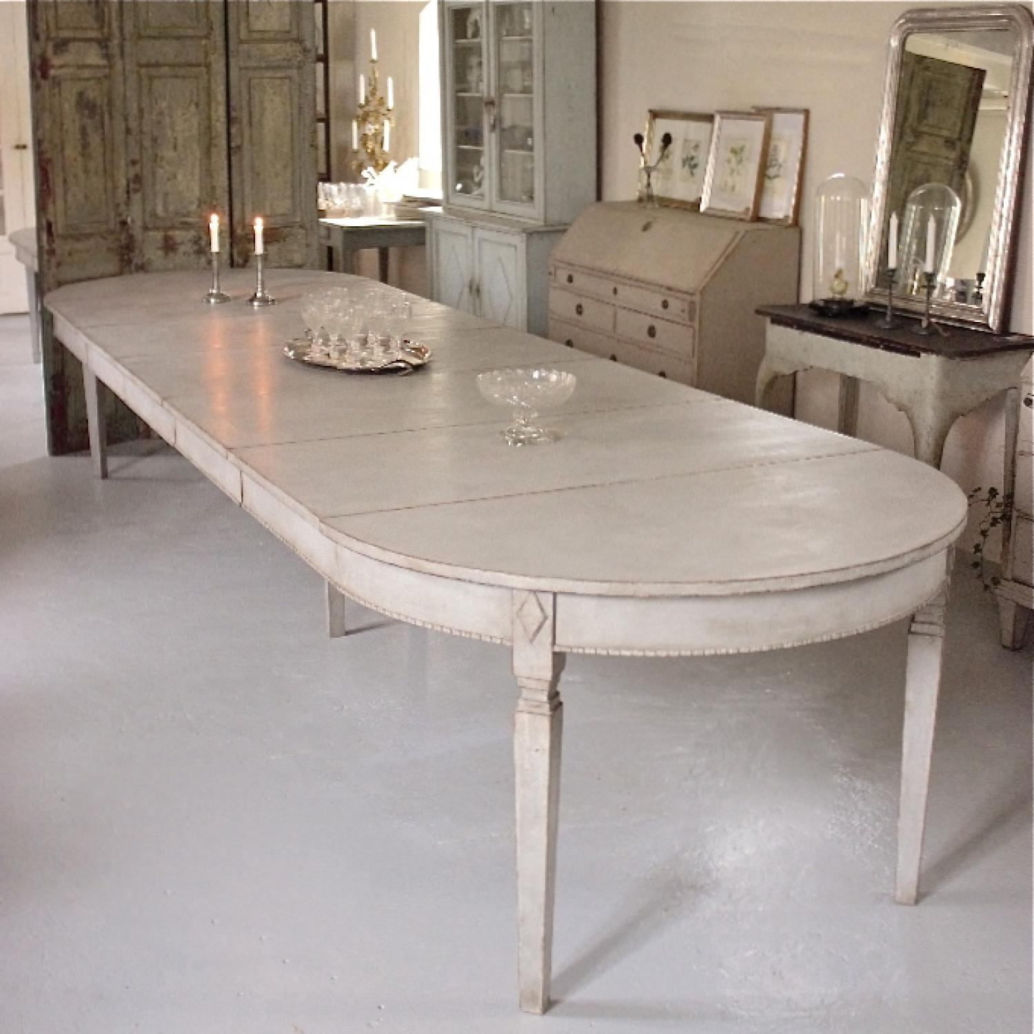 HUGE SWEDISH GUSTAVIAN STYLE EXTENSION TABLE