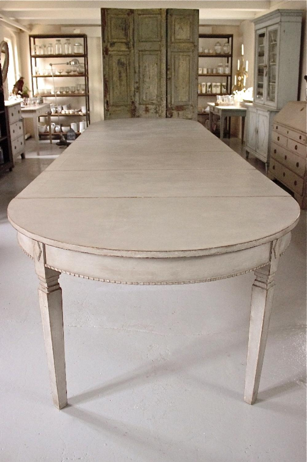HUGE SWEDISH GUSTAVIAN STYLE EXTENSION TABLE In FURNITURE