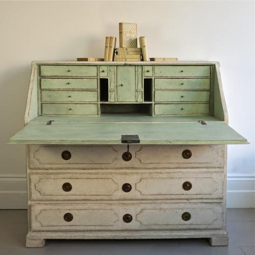 RICHLY CARVED SWEDISH GUSTAVIAN PERIOD BUREAU