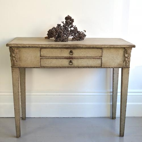 RARE SWEDISH GUSTAVIAN ANTIQUE SIDE TABLE