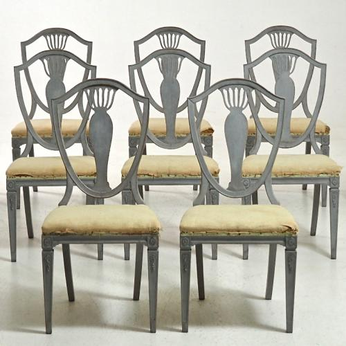 SET OF SWEDISH GUSTAVIAN CHAIRS