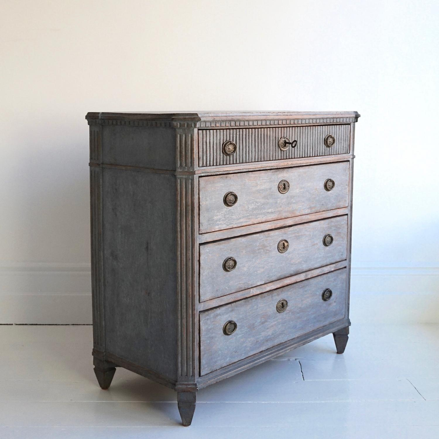 RICHLY CARVED SWEDISH GUSTAVIAN CHEST
