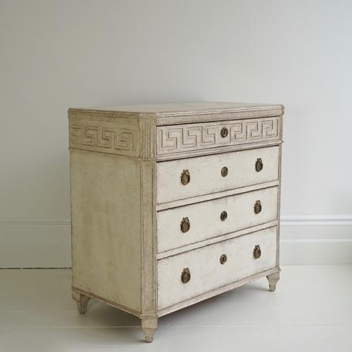 RICHLY CARVED SWEDISH GUSTAVIAN STYLE CHEST
