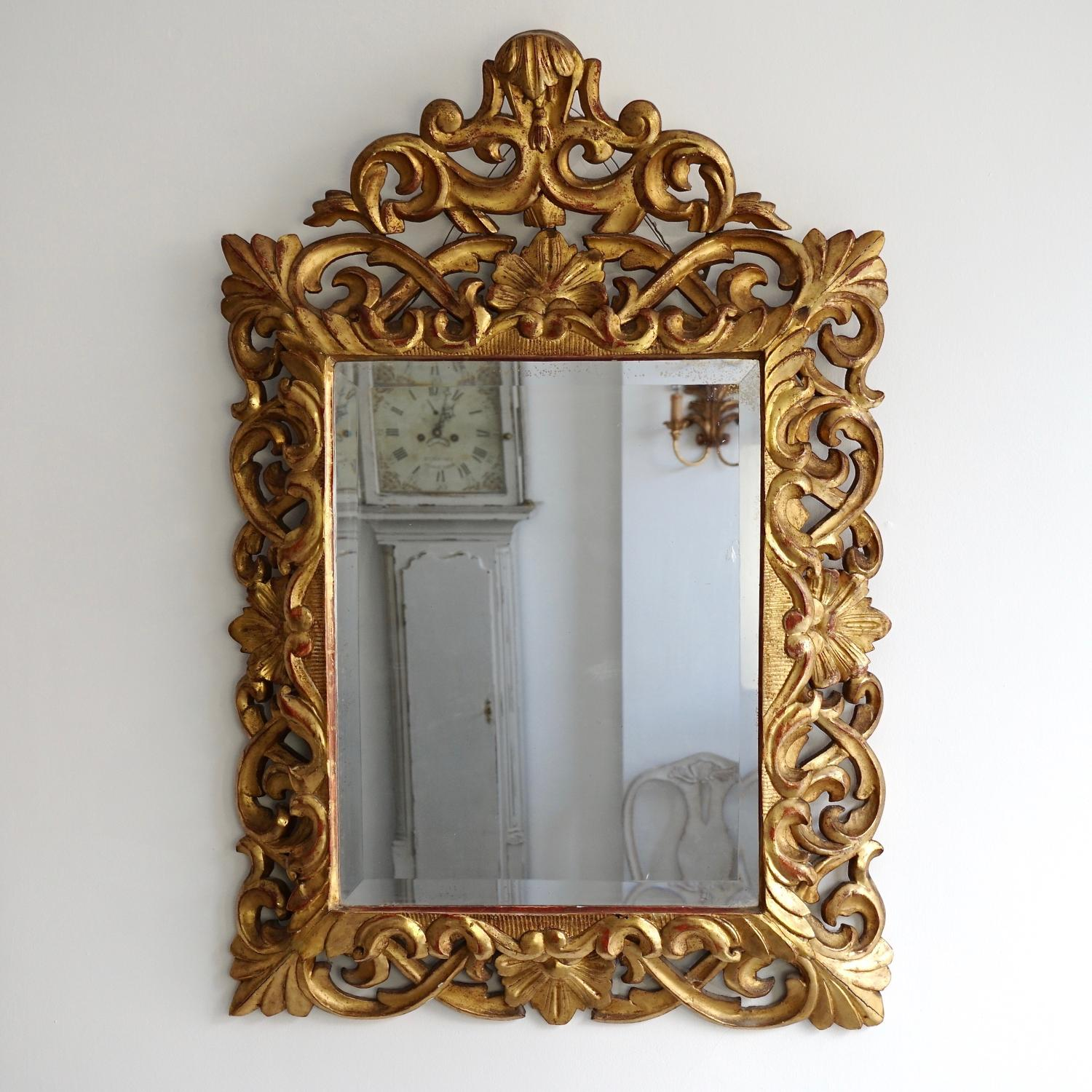 WONDERFUL 19th CENTURY FLORENTINE MIRROR