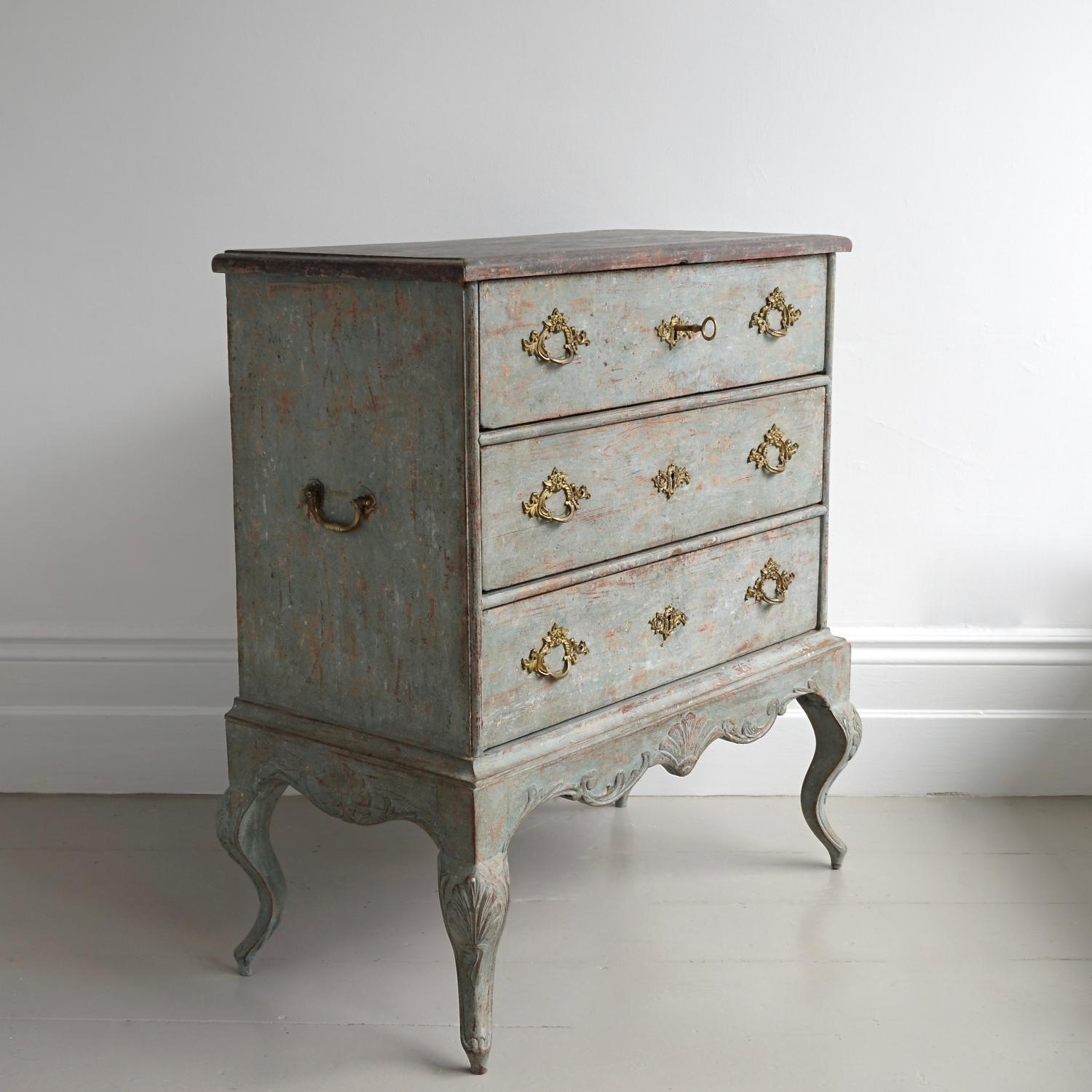 BEAUTIFUL ROCOCO CHEST IN ORIGINAL COLOUR