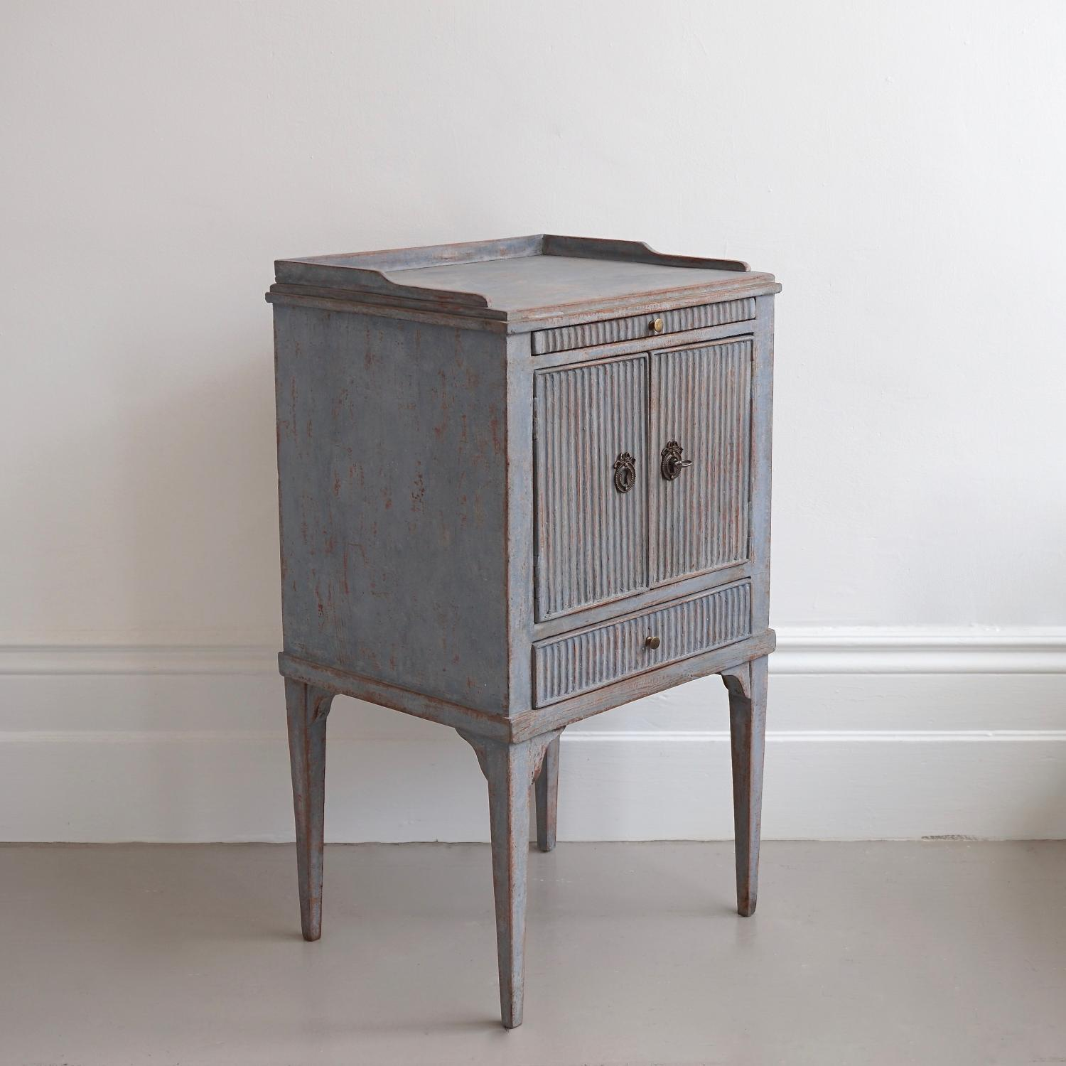 RARE 19TH CENTURY SWEDISH BEDSIDE CABINET