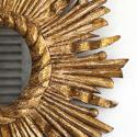 FRENCH VINTAGE GILT SUNBURST MIRROR - picture 3