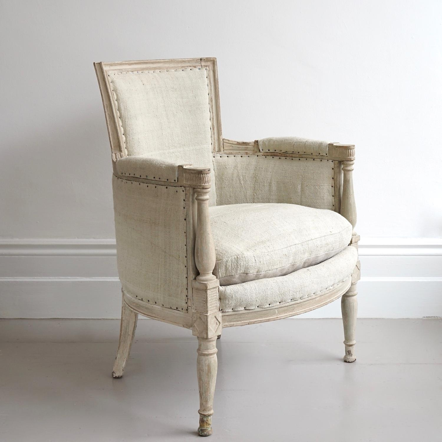 BEAUTIFUL DIRECTOIRE ARMCHAIR IN ORIGINAL PAINT