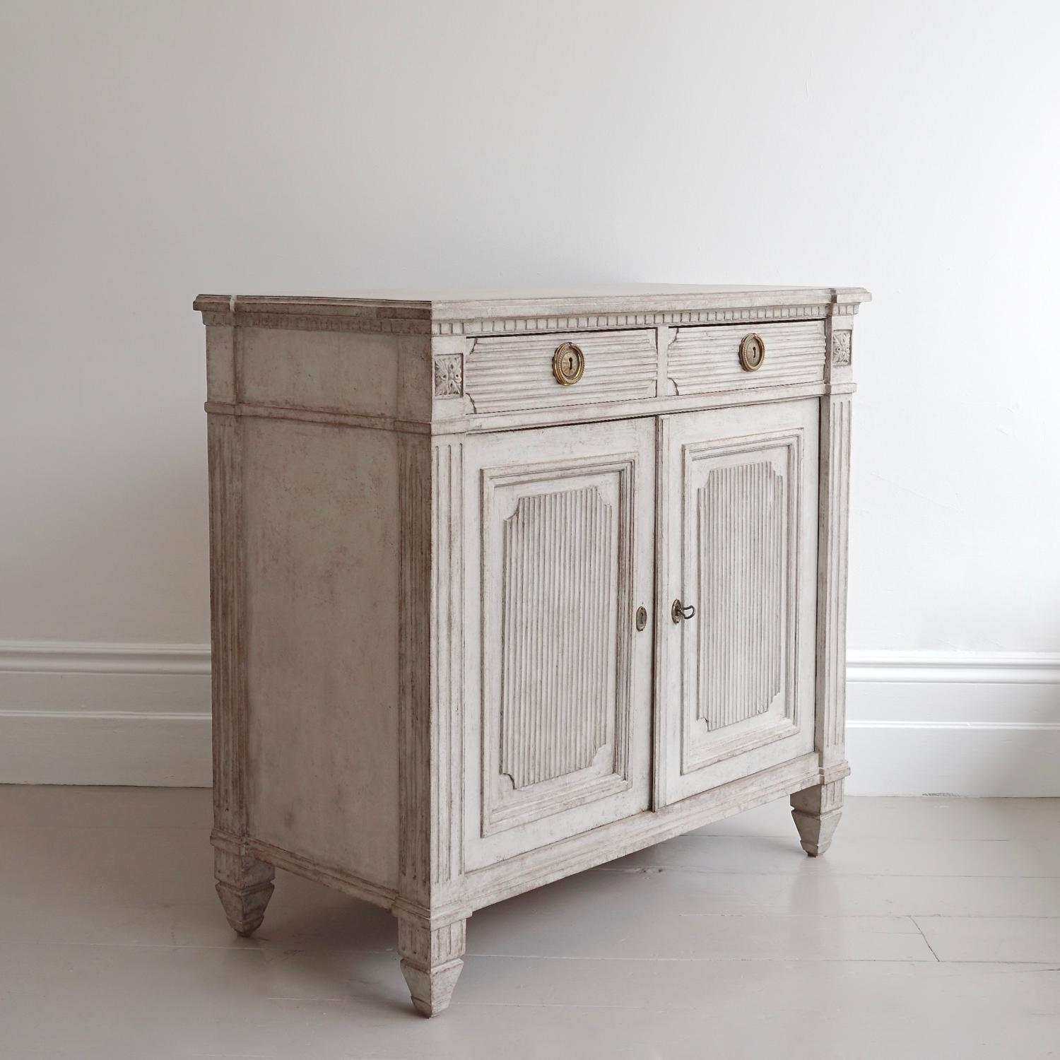 RICHLY CARVED SWEDISH GUSTAVIAN STYLE SIDEBOARD