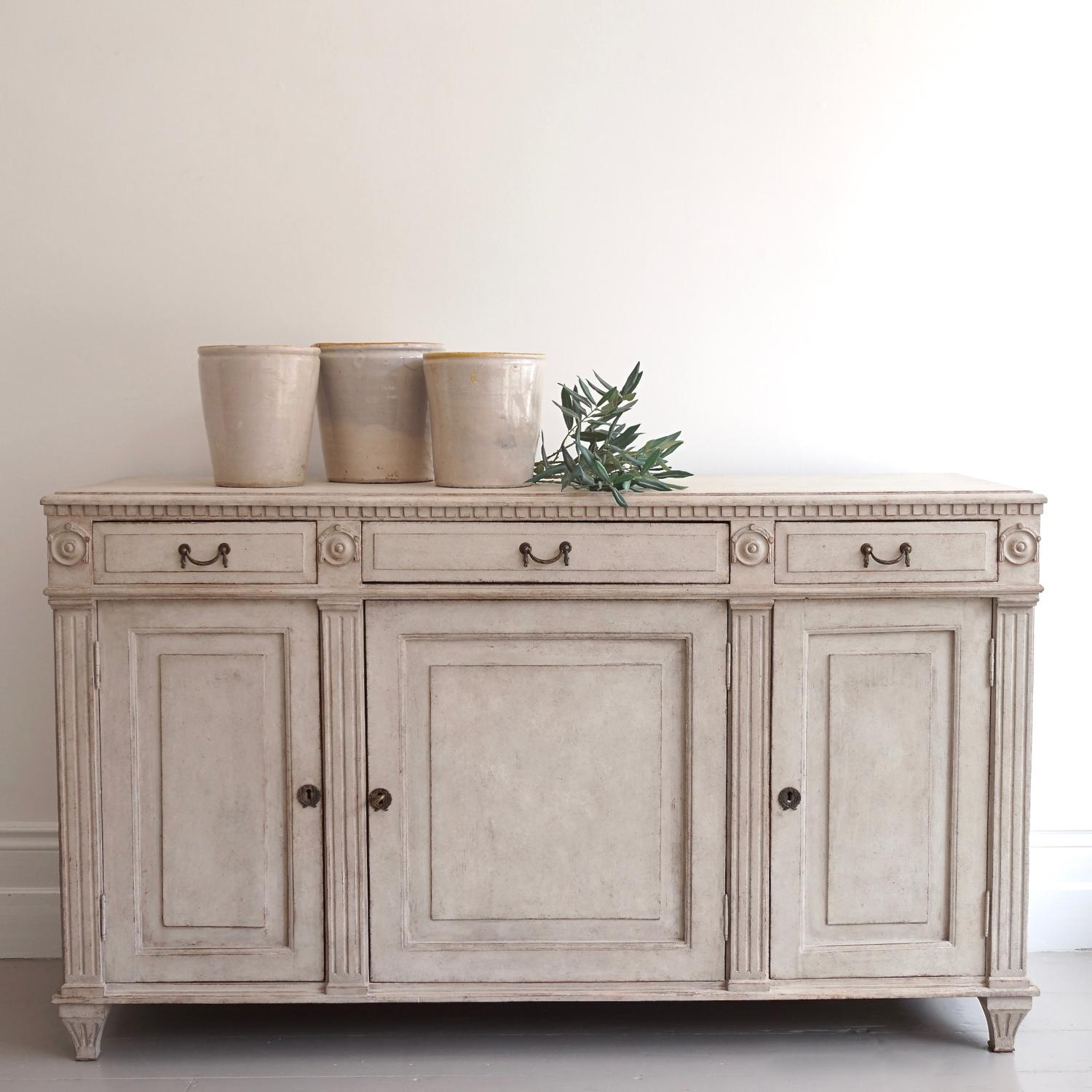 MAGNIFICENT SWEDISH GUSTAVIAN SIDEBOARD
