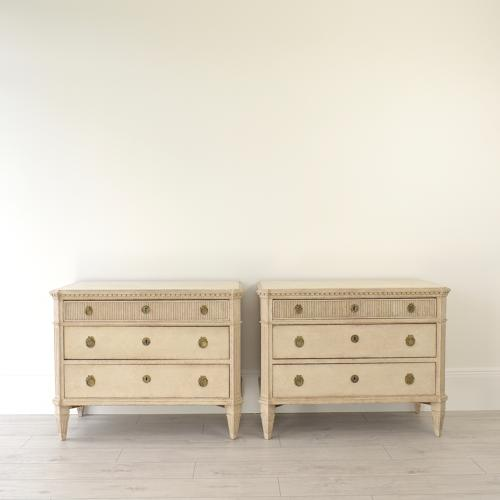 PAIR OF SWEDISH GUSTAVIAN STYLE CHESTS