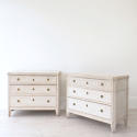 PAIR OF RICHLY CARVED GUSTAVIAN STYLE CHESTS - picture 1