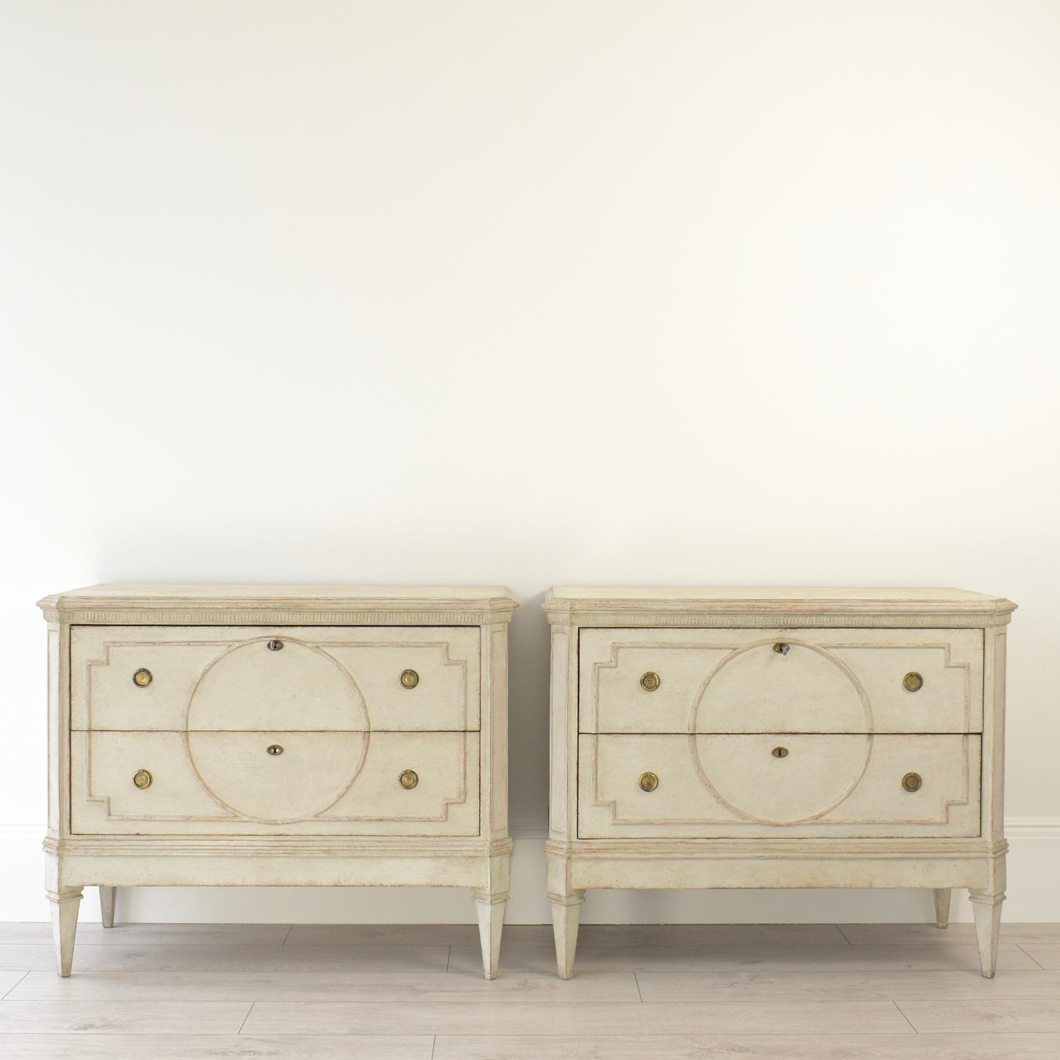 DECORATIVE PAIR OF SWEDISH GUSTAVIAN CHESTS