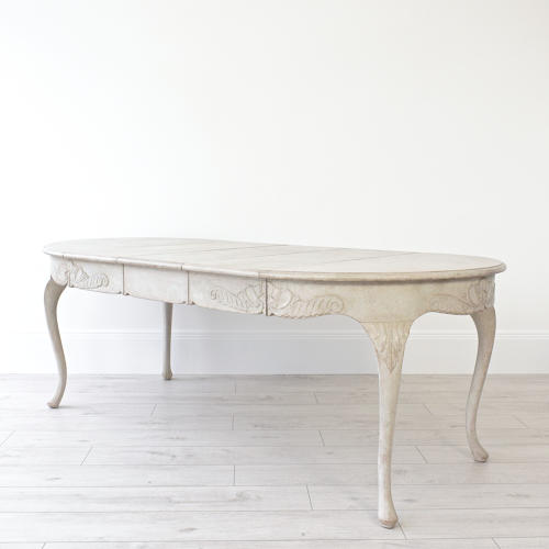 RARE SWEDISH ROCOCO EXTENSION TABLE