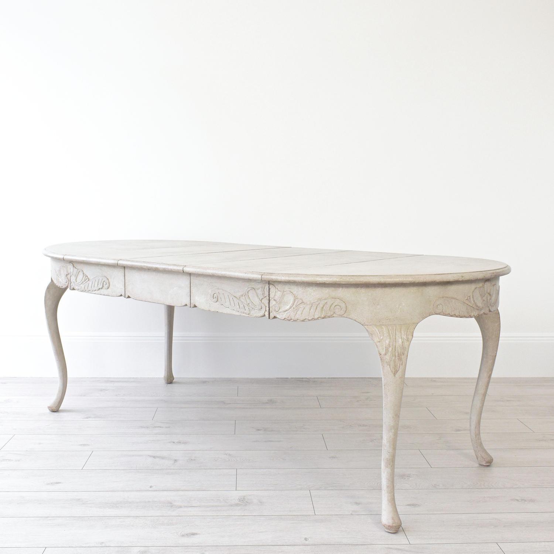RARE SWEDISH ROCOCO EXTENSION TABLE
