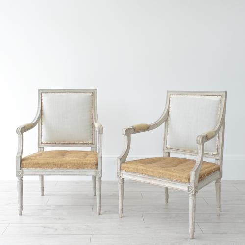 ELEGANT PAIR OF SWEDISH GUSTAVIAN ARMCHAIRS