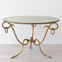 EXTRAORDINARY RÉNE DROUET MIRRORED COFFEE TABLE - picture 1