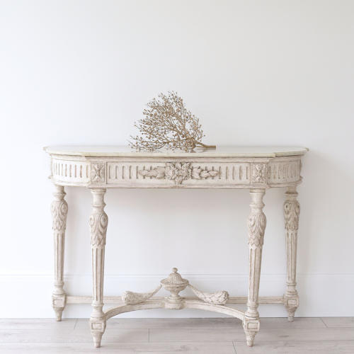 VERY FINE 19TH CENTURY FRENCH MARBLE CONSOLE TABLE