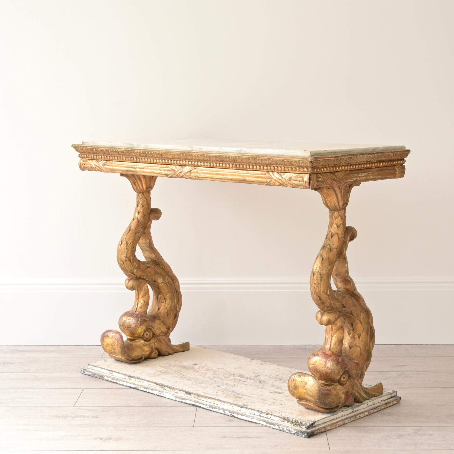 LATE GUSTAVIAN PERIOD SWEDISH EMPIRE CONSOLE TABLE